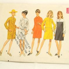I probably made that in bright green pin stipe  Vintage 60s Dress Pattern Butterick 4758 Uncut Sz 12 by Revvie1, $8.00