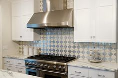 Byzantine 7 Kitchen Backsplash By Tabarka Studio. Tile from H.J. Martin design by Katie Krause.