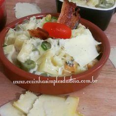 Cozinha Simples da Deia: Pasta Bambini com queijos e bacon