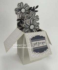 Stampin' Up! Flower shop box card by Barb M