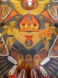 Eclectix Arts: Vintage Pinball Machine Art, Even Charlie's Angels