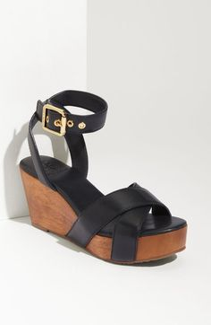 Tory Burch Blue Almita Wedge Sandal | l simply love these wedges and they are comfortable!