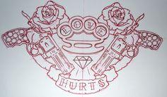 LOVE HURTS tattoo...