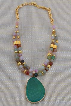 Short necklace with beads of agate 8 mm multicolor natural In zamak with bathroom gold beads. Pendant of natural stone in the form of drop of 5 cm. The length of the necklace is 42 cm. chain can vary the length. Bead Jewellery, Beaded Jewelry, Jewelery, Handmade Jewelry, Jewelry Necklaces, Beaded Bracelets, Seed Bead Necklace, Diy Necklace, Gemstone Necklace