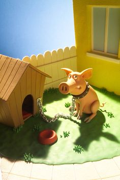 Gery Lebecq: www.folioart.co.uk/illustration/folio/artists/illustrator/gery-lebecq - Agency: www.folioart.co.uk - #illustration #art #3Dmodelling #pig