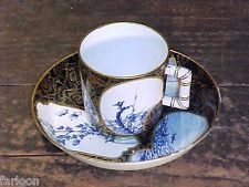 1879 ROYAL WORCESTER JAPONISME Handpainted CUP & SAUCER Scenic