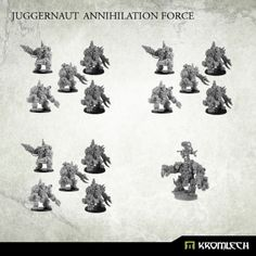 This deal contains one orc Warchief in Juggernaut Mecha-Armour and three Juggernaut Kill Squads.  Each Kill Squad consist of five orcs in Juggernaut Mecha-Armours. Three of them armed with CCWeapon and twin-linked HMG and two armed with CCWeapon and Krush Rokkets or Flamers (please let us know your choice of heavy weapons in the comment field during checkout) .  Buying this deal you save almost 20%!