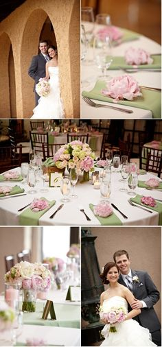 just fell in love with this color combo - spring green and pale pink!