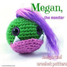 Ravelry: Megan the tiny monster pattern by Little Wendy crochet