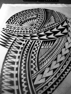 Darryll Richards #blackwork #polynesian #polynesiantattoo #tribaltattoo #neotribal #neotribaltattoo #freehand #tattooideas #tattoodesign #tattootime #drawingtime #mantratattoo