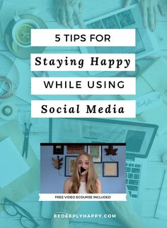 It is important to be aware of how social media can impact your mood, including causing feelings of anxiety and depression. This post teaches 5 easy tips for staying happy while using social media #depression #anxiety #socialmedia #mentalhealth