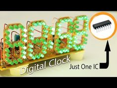 Electronics Basics, Electronics Projects, Led Projects, Projects To Try, Big Digital Clock, Battery Charger Circuit, Make Your Own, Make It Yourself, Electronic Schematics