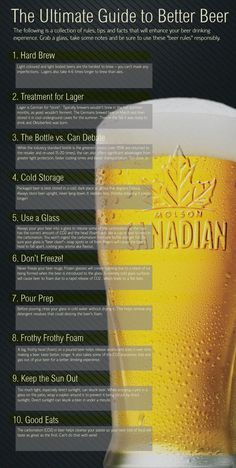 Infographics - 10 Tips: Ultimate Guide To Better Beer