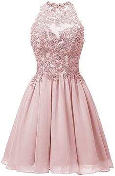Cdress Appliques Bodice Chiffon Short Homecoming Dresses Backless Prom Cocktail Gowns Coral US 2 at Amazon Women's Clothing store: