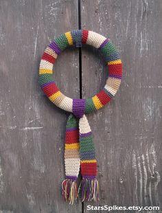 @marybethrockz   Tom Baker Doctor's Scarf Wreath by StarsSpikes on Etsy