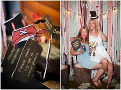 """I love the photo booth prop signs """"don't tag me in this photo""""; """"i'm here for the beer"""""""