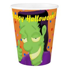 #party - #Frankencool Halloween Paper Cups