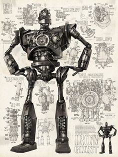 BROTHERTEDD.COM Character Art, Character Design, Avatar Images, The Iron Giant, Robot Art, Robots, Little Monsters, Illustrations And Posters, Game Art
