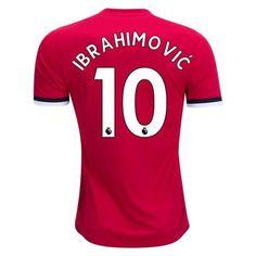 4d9b737be Manchester United 2017 18 Home Men Soccer Jersey IBRAHIMOVIC  10