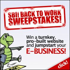This is the BIGGEST SBI! Sweepstakes with even Bigger SBI! and SiteSell! PRIZES. One lucky winner will receive a customized 20-page, turnkey SBI! Web site, built FOR you by an experienced SiteSell Services Specialist. AND a free year of SBI!! (a whopping $3248 value!)