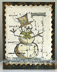 Christmas Blueprints - Layers of ink