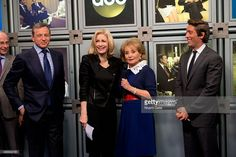 James Goldston, President of ABC News; Bob Iger, chairman and CEO of The Walt Disney Company; ABC News anchor Diane Sawyer; Barbara Walters and ABC News anchor David Muir attend the ABC News Headquarters Dedication Ceremony on May 12, 2014 in New York City.