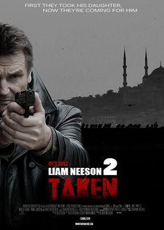 Taken 2 fan art by Taken 2, Liam Neeson, Daughter, Fan Art, Movies, Movie Posters, Film Poster, Films, Popcorn Posters