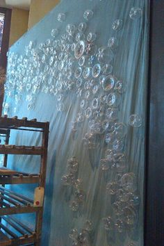 Bubbles from drink bottle bottoms