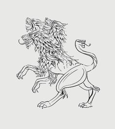 Cerberus.  I saw this Cerberus and thought it had some great similarities to the cerberi in Scintillate.