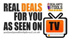 Visit http://www.sealantsandtoolsdirect.co.uk/special_offers/real_deals_for_you_as_seen_on_tv_C3228.html to browse our selection of special offers!