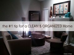 The #1 Tip for a Clean and Organized Home | OrganizingMadeFun.com