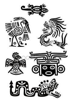 Скачать - Национальные узоры американских индейцев — стоковая иллюстрация #3301940