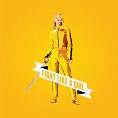 Fight Like a Girl: Beatrix Kiddo Art Print #killbill #fightlikeagirl #feminism