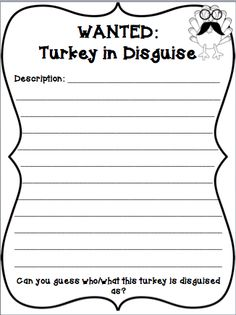 Mrs. O Knows: Wanted: Turkeys in Disguise