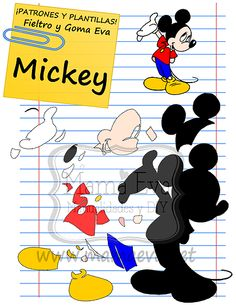 Plantillas personajes clásicos Disney