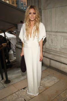 White dress MK Mary-Kate Olsen