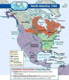 North America, 1783