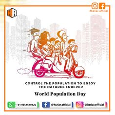 World Population Day 2020..!!!  Follow Us @hsriar.official  Contact Us Email Us : hsriar.work@gmail.com Whatsapp : +91 9664640420  #hsriar #worldpopulationday #controlpopulation #population #indiapopulation #hsriarofficial #marketing World Population, Social Media Marketing, Words, Day, Horse