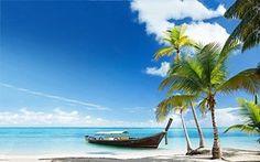 TROPICAL PARADISE POSTER Canoe on the Beach 2 RARE HOT NEW 24x36