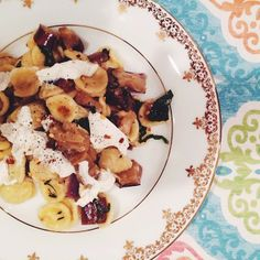 Wilder Hungers: Orecchiette with Marinated Eggplant, Basil, Chile, and Burrata