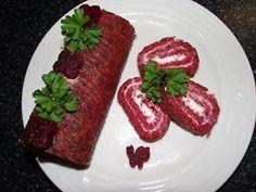 CVRČEK NA TALÍŘI: ROLÁDA Z ČERVENÉ ŘEPY Meatloaf, Steak, Food, Meat Loaf, Eten, Steaks, Meals, Beef, Diet