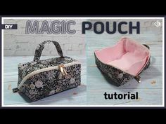 Discover recipes, home ideas, style inspiration and other ideas to try. Bag Patterns To Sew, Sewing Patterns Free, Sewing Tutorials, Free Sewing, Sewing Hacks, Diy Bags Jeans, Diy Bags Purses, Small Sewing Projects, Pouch Pattern