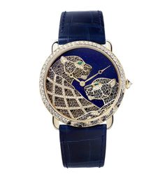 Ronde Louis Cartier XL Filigrana com Panteras Datejust Rolex, Chanel, Chopard, Beautiful Watches, Unique Watches, Stylish Watches, Audemars Piguet, Bling Jewelry, Gold Jewellery