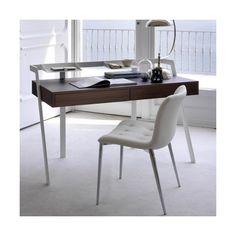 Bontempi Casa Zac Desk ($1,758) ❤ liked on Polyvore featuring home, furniture, desks, brown, brown desk and brown furniture
