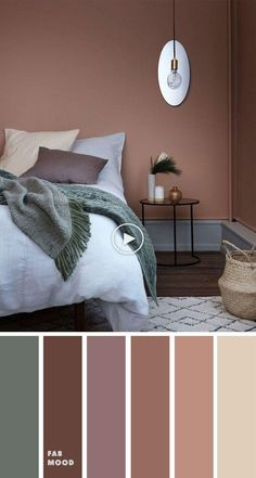 15 Earth Tone Colors For Bedroom { sandstone/copper tan cool green } , mauve col. 15 Earth Tone Colors For Bedroom { sandstone/copper tan cool green } , mauve color scheme for bedroom, color palette, mauve color palette - Bedroom Colour Palette, Bedroom Wall Colors, Bedroom Color Schemes, Colors For Bedrooms, Mauve Bedroom, Apartment Color Schemes, Bedroom Brown, Copper Bedroom Decor, Calming Bedroom Colors