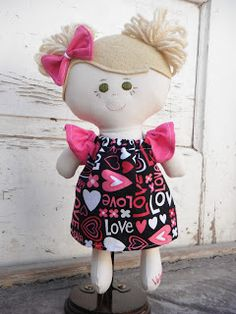 Custom handmade dolls. You choose hair/eye color, doll size/style and more. Check out my blog cutestdollsever.blogspot.com