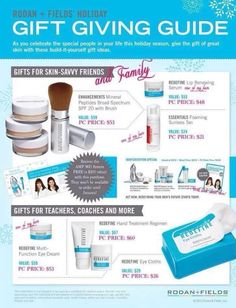 These products are simply amazing.  Check out Facebook page Kelly Smith or Rodan + Fields - Greensboro or go to my website and feel free to give me a call at ksmith465.myrandf.com