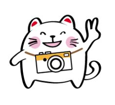 Super adorable Lucky Momo the Maneki-neko camera cat charms everyone with this set of cute everyday life stickers.