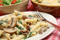 Rigatoni with Creamy Mushroom Sauce #Recipe