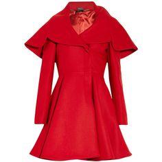 Alexander McQueen Wool-felt coat (909.890 HUF) found on Polyvore